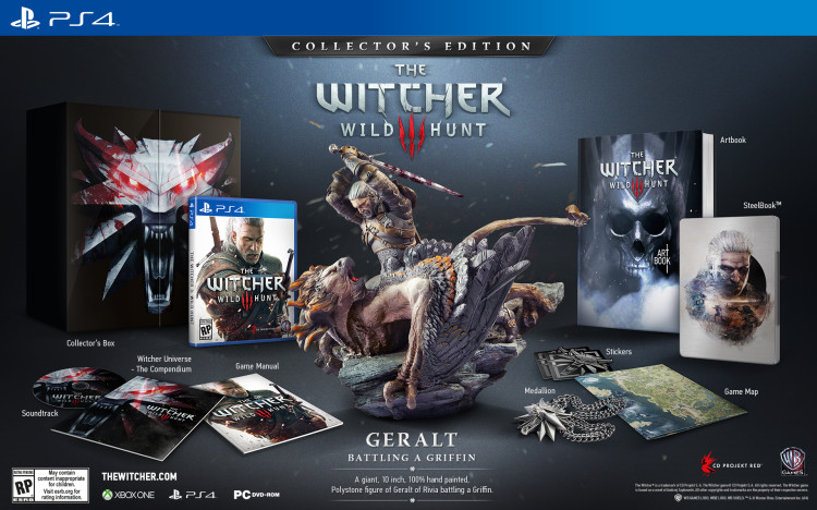 Witcher 3: Wild Hunt Collector's edition PS4