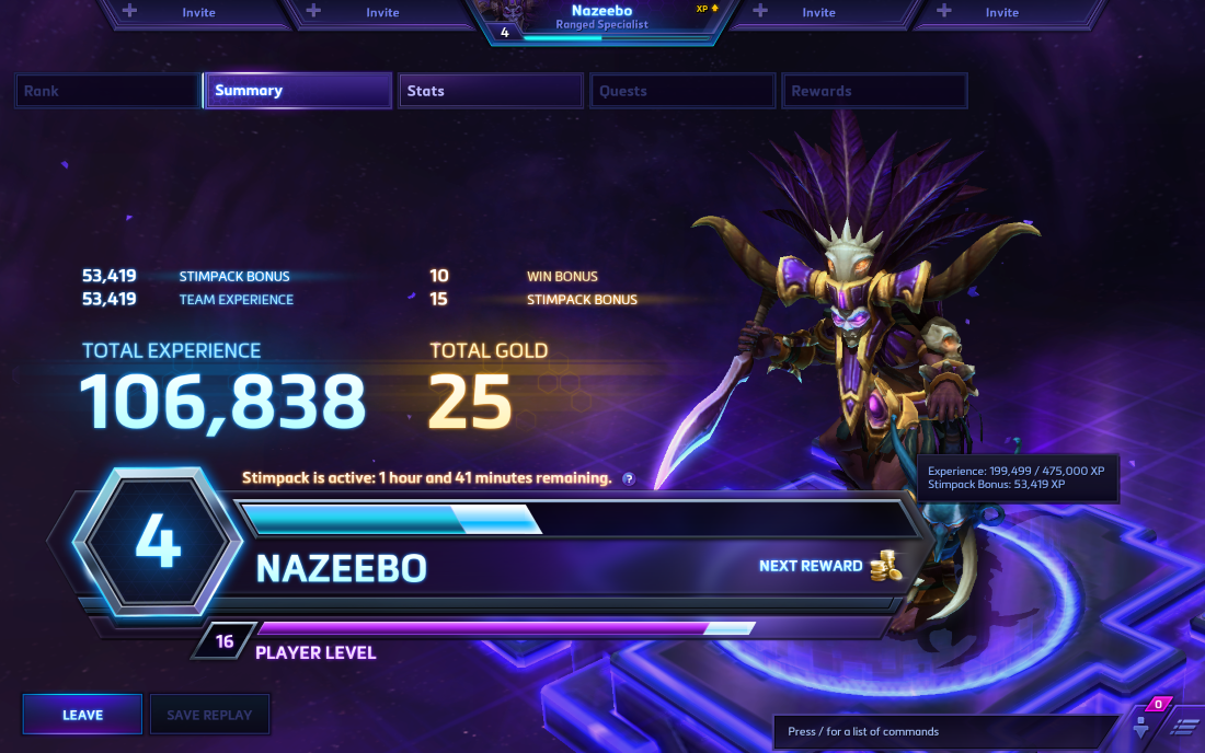 HOTS_Gold_Xp_Gain_Stimpack